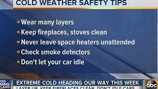 Tips for staying warm during this week's extreme cold weather - Video