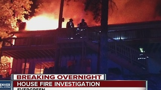 House fire investigation in Evergreen - Video
