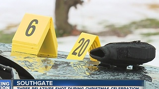 Three relatives shot during Christmas celebration - Video