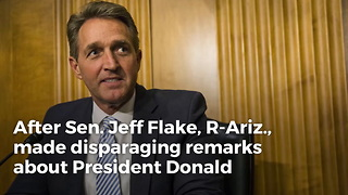 Jeff Flake Calls Trump Rallies 'Spasms Of A Dying Party,' Then James Woods Sets Him Straight - Video
