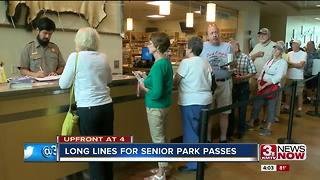 Long lines at the National Park Service for $10 pass 4p.m. - Video