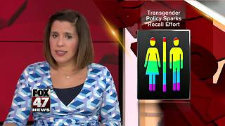 Transgender policy sparks recall effort - Video