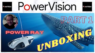Powervision Power Ray Underwater Drone Unboxing