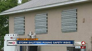 Why hurricane shutters are a fire hazard - Video