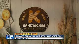 Kearny Mesa sandwich shop reopens after burning down - Video