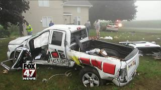Fog the cause of morning accident - Video
