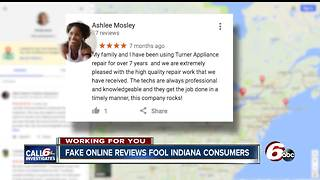 Fake business reviews fool Indiana consumers - Video