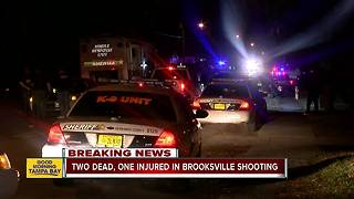 Two people dead, one injured in triple shooting in Brooksville; suspect now in custody