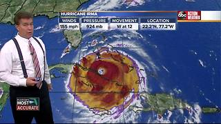 Hurricane Irma Update | Florida's Most Accurate Forecast with Denis Phillips on Friday at 9PM - Video