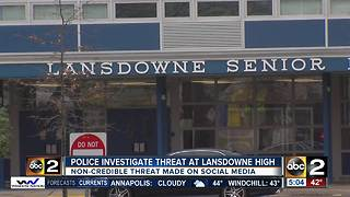 Police investigate threat at Landsdowne High School - Video