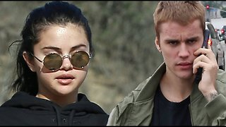 """Justin Bieber Tries To """"Accidentally"""" Run Into Selena Gomez! Selena Wants No Part Of It!"""