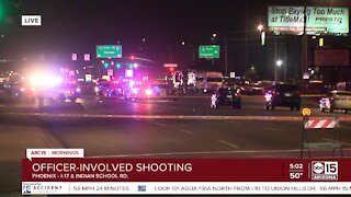 Officer-involved shooting near I-17 and Indian School Road