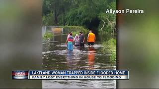 Family rescues disabled grandmother from flooded home in Lakeland - Video