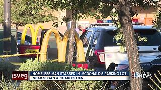Man stabbed in McDonald's parking lot in East Las Vegas - Video