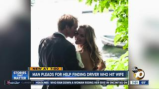 Man pleads for help finding driver who hit wife - Video