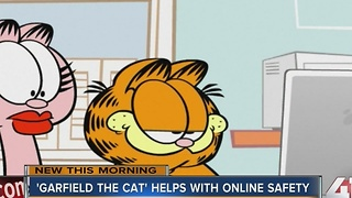 'Garfield the cat' helps with online safety - Video