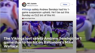 Vikings Get Penalized For Same Hit Bengals Got Away With - Video