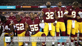 NFL Ratings Take A Knee After Trump Calls On America To Turn Off Protests - Video