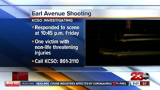 Shooting on Earl Avenue leaves one person injured
