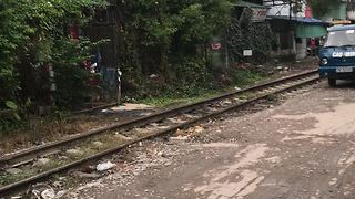 This Is Why You Shouldn't Park Right Next To The Train Tracks - Video