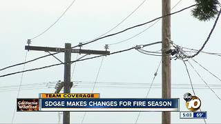 SDG&E makes changes for fire season - Video