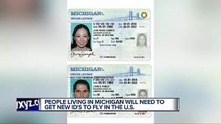 People living in Michigan will need to get new ID's to fly in the US - Video