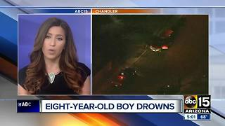 8-year-old dead after being pulled from pool in Chandler - Video