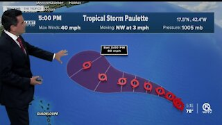 Tropical Storm Paulette forms in Atlantic Ocean