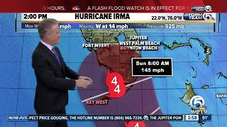 3 p.m. Friday Hurricane Irma update