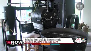 Coffee shop, bakery putting final touches on shops before opening in Crossroads district - Video