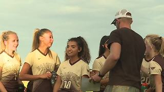 Vallivue girls soccer team honors Brent the farmer in their final home game - Video