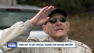 WWII combat to receive a rare military