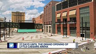 27 days until the opening of Little Caesars Arena - Video
