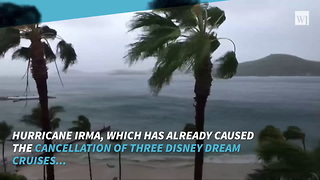 Hurricane Irma Could Force Disney World To Close - Video