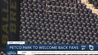 Petco Park to welcome back fans