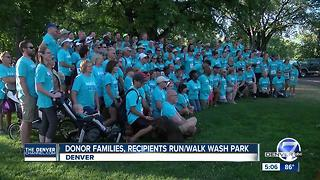 Thousands of donor families and recipients take over Washington Park for Donor Dash 5K - Video