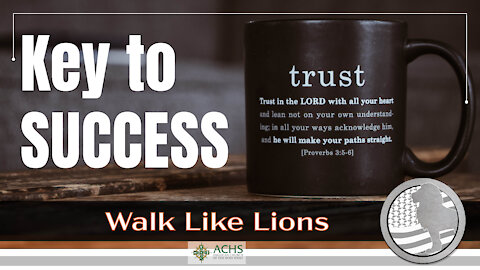 """Key to Success"" Walk Like Lions Christian Daily Devotion with Chappy Jan 19, 2021"