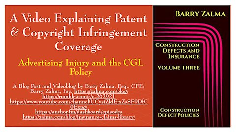 A Video Explaining Patent & Copyright Infringement Coverage