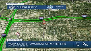 Traffic Alert: Work Begins Thursday To Fix Water Line At Utica