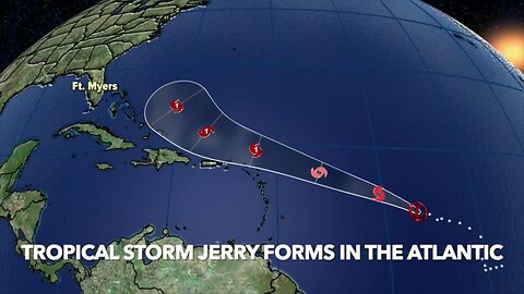 Tropical Storm Jerry forms in the Atlantic