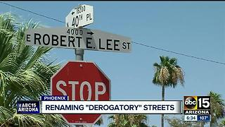 City discussing street naming policy after some deem names offensive - Video