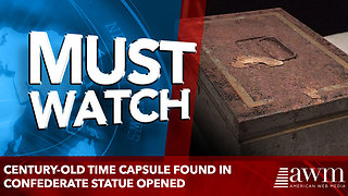 Century-old time capsule found in Confederate statue opened - Video