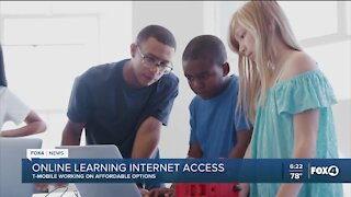 Online learning internet access