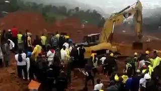 Rescue Workers Attend Site of Deadly Sierra Leone Mudslide - Video