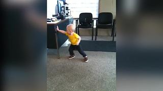 Amazing Tot Boy Shows His Karate Moves
