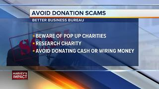 How to avoid donation scams
