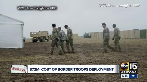 Questions rising over cost of troops on U.S., Mexico border