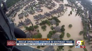 Rescue operations continue in southeast Texas - Video