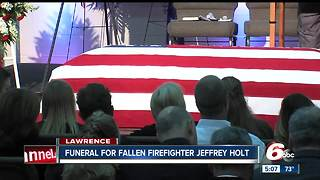 Funeral for fallen Lawrence Firefighter Jeffrey Holt - Video