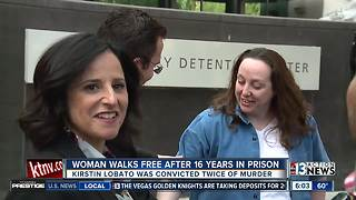 Woman released from prison, proven innocent after serving 16 years for murder - Video